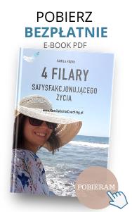bezpłatny e-book Kamili Kozioł Coaching. 4 filary satysfakcjonującego życia