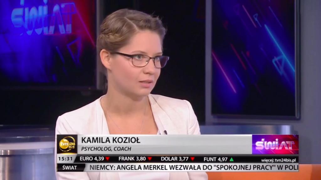 Kamila Kozioł gość w TVN 24 BIS