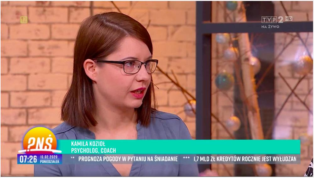 Kamila Kozioł gość w TVP2 Pytanie na śniadanie